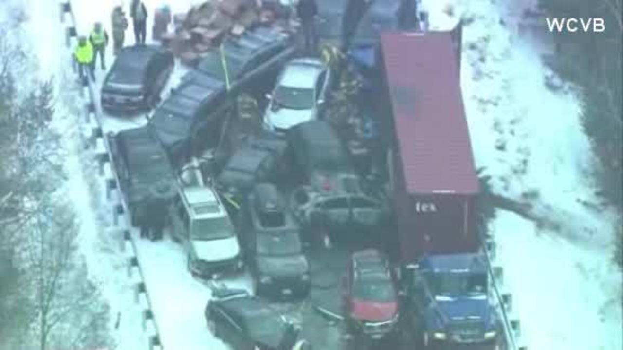 Police: 35 vehicles caught in 2 New Hampshire pileups - KSNW