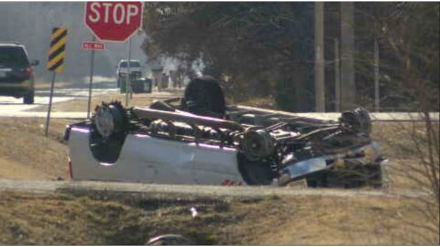 67-year-old woman rolls van after police chase