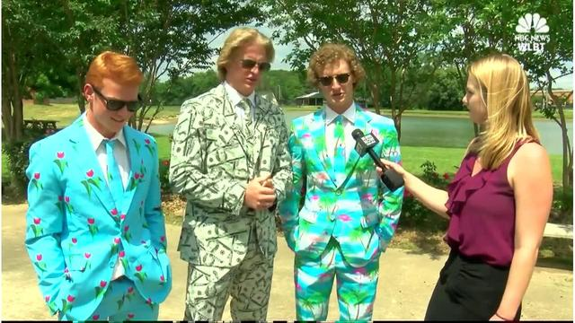 Funky prom suits go viral