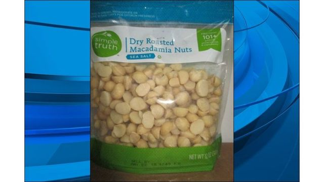 Kroger expands recall of 12 oz. packages of macadamia nuts
