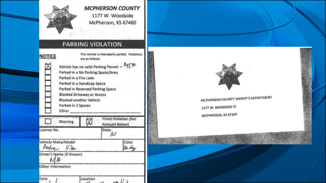Fake parking tickets issued in mcpherson county altavistaventures Images