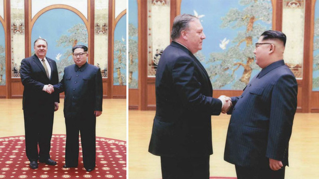 White House releases photos of Pompeo meeting with Kim Jong Un