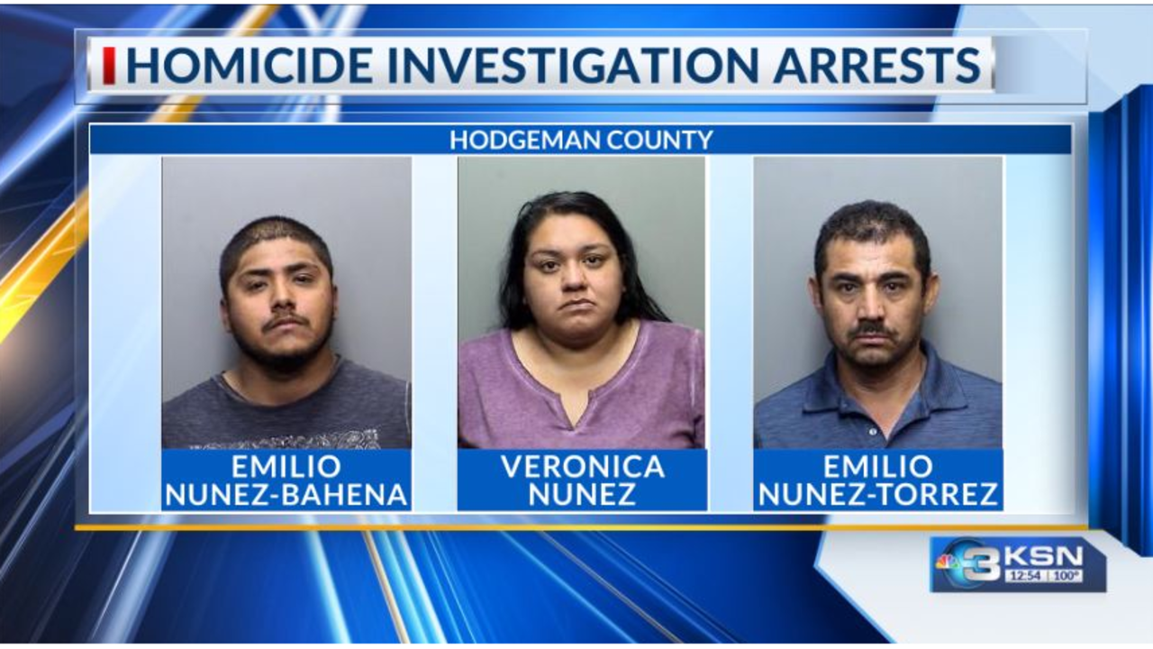 Three arrested in Hodgeman County homicide