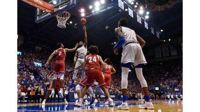 Lawson, Moore carry No. 1 KU to 89-53 rout of South Dakota