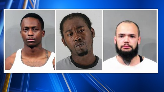 3 arrested for string of weekend armed robberies