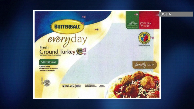 Butterball recalls 78,000 pounds of ground turkey products