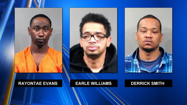 Three men arrested after dollar store robberies
