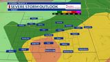 T.J.'s Forecast: Severe storms possible yet again as low pressure, front skirts through
