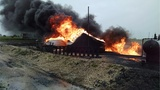 2 oil tankers catch fire in Herington&#x3b; lightning may be the cause